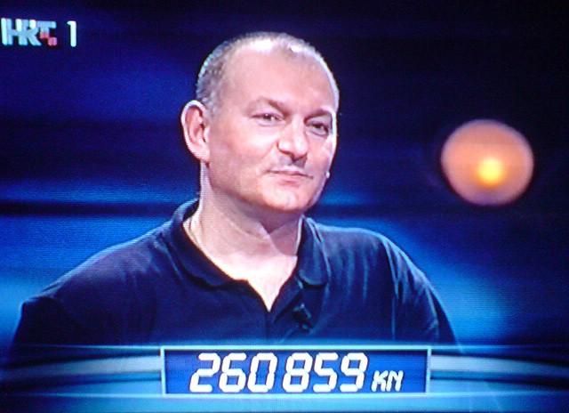 """Davor Šišović u kvizu """"Jedan protiv 100"""" osvojio  260.859 kn!"""