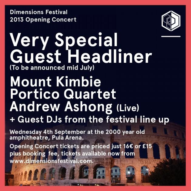 Otvorenje Dimensions festivala, Arena, Pula 04.09.2013.