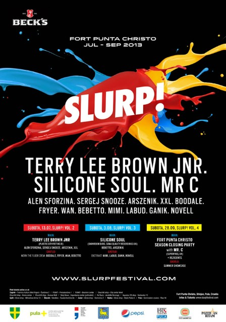 Drugo izdanje Slurpa!, subota 13.07., Terry Lee Brown Jnr (D) i program na 2 floor-a