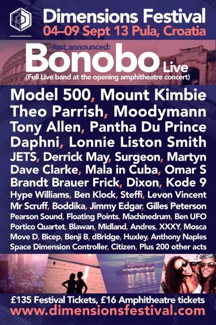 Bonobo specijalni gost koncerta otvorenja Dimensions festivala 4.9. u pulskoj Areni!