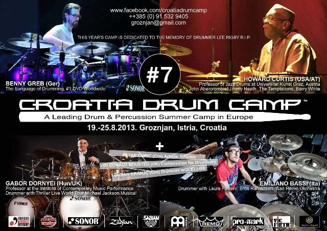 [Prijave u tijeku] CROATIA DRUM CAMP u Grožnjanu, vodeći seminar bubnjara i udaraljkaša u Europi!