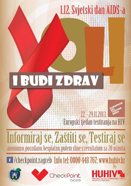 EUROPSKI TJEDAN TESTIRANJA NA HIV CHECKPOINT ZAGREB – CENTAR ZA ZDRAVLJE MLADIH + POZITIVAN KONCERT!!!