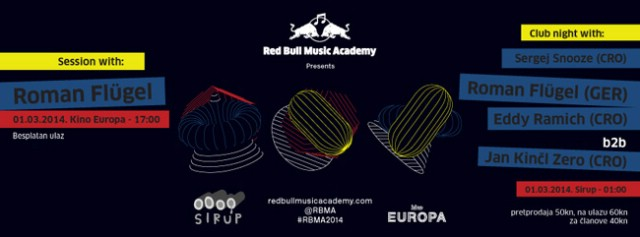 Red Bull Music Academy Session w/ Roman Flügel @ Sirup/Kino Europa, Zagreb 01.03.2014.