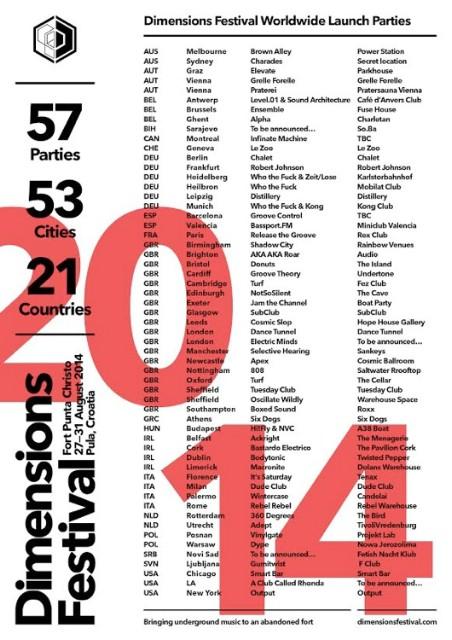 Dimensions festival najavio launch zabave diljem svijeta