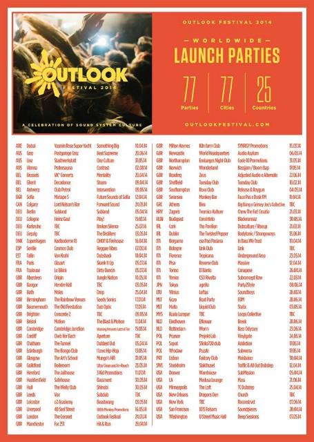 Outlook festival najavio 77 launch zabava u 77 gradova