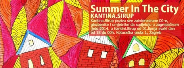 Zatvaranje sezone kluba Sirup i početak ljetne sheme Kantine.Sirup