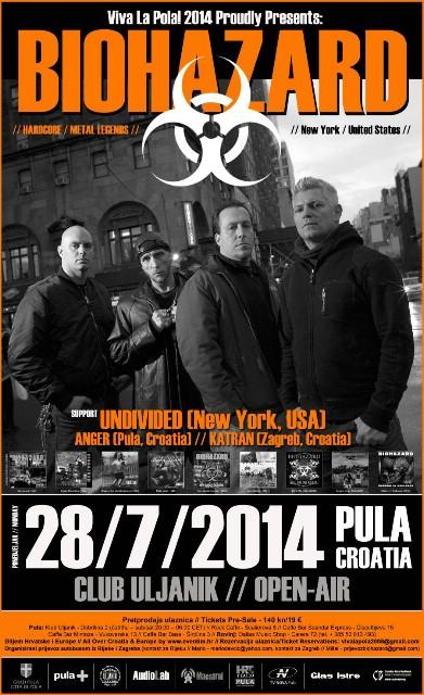 11. `Viva La Pola` uz legende BIOHAZARD (SAD) 28. 07. 2014. @ Club Uljanik