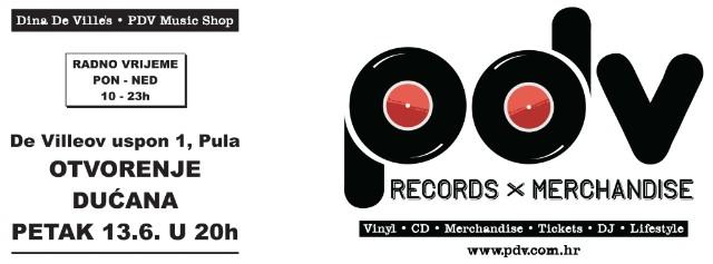 Otvorenje Dina De Villes / PDV Music Shop-a u Puli