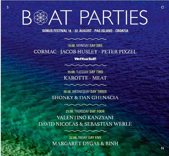 Sonus Festival 2014: Boat partiji na Sonus festivalu