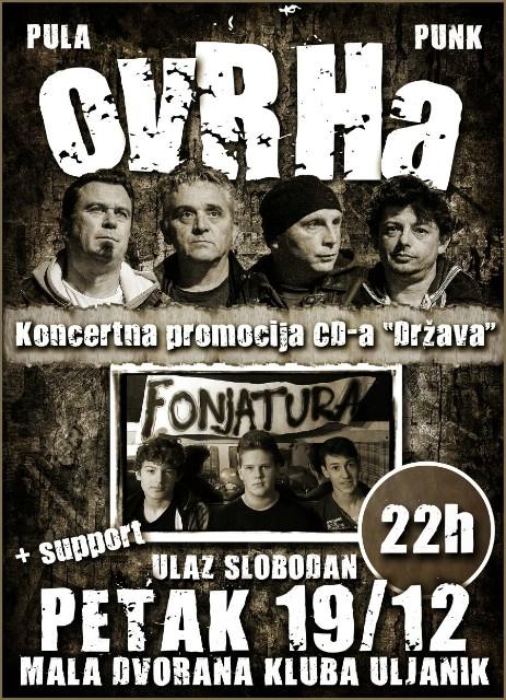 Ovog petka 19.12.2014. u Klubu Uljanik koncertni program za štovatelje pravog pulskog punka