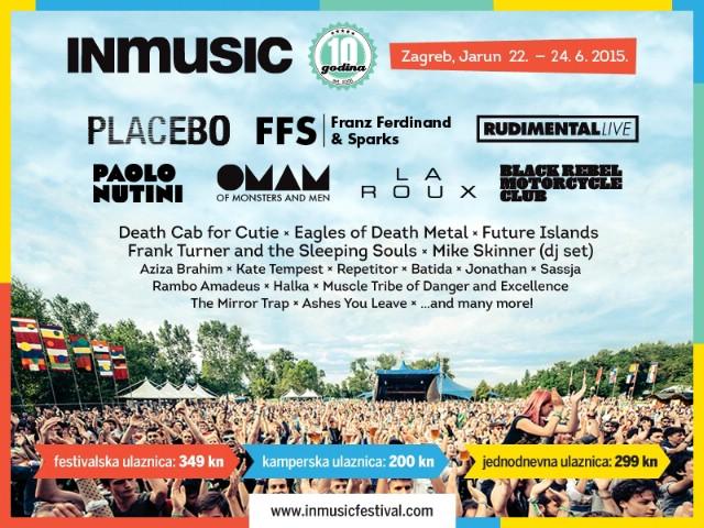 INmusic festival: raspored i stanica nastupa