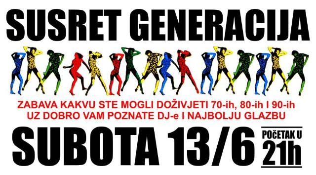 U subotu 13. 06. 2015. veliki susret generacija u klubu Uljanik u Puli