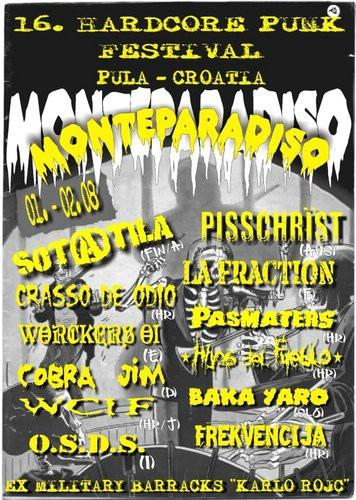 16. Monteparadiso hc/punk festival