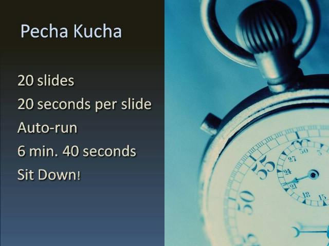 Pecha kucha: učinkovita prezentacija u 6 minuta