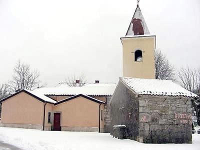 Sveta Kata, snig prid vrata  Ćićarija pod snijegom