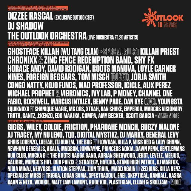 Poznati su svi izvođači velike 10. proslave Outlook festivala!