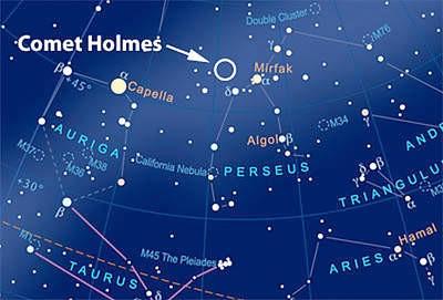 Komet 17/P Holmes sve sjajniji