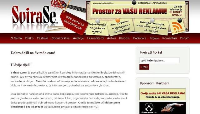 SviraSe.com novi glazbeni portal