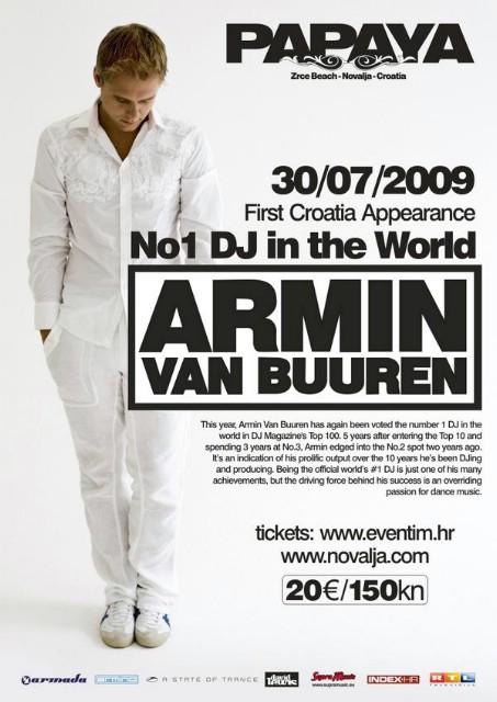 Armin Van Buuren @ Papaya, Zrće, Novalja 30.07.2009.