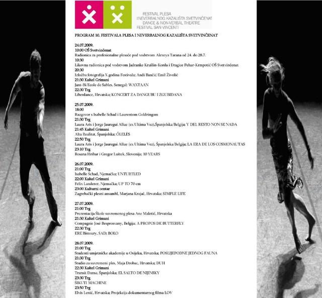10. festival plesa i neverbalnog kazališta u Svetvinčentu