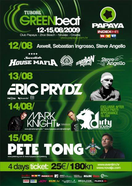 Popularni trojac Swedish House Mafia (Axwell, Ingrosso, Steve Angelo) otvaraju drugo izdanje Tuborg Green Beat-a u klubu Papaya!