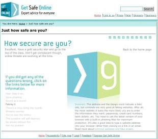 Stranica posvećena online sigurnosti