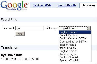 Google pokrenuo rječnik