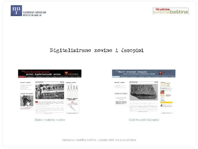 Stare hrvatske novine i časopisi od sada online