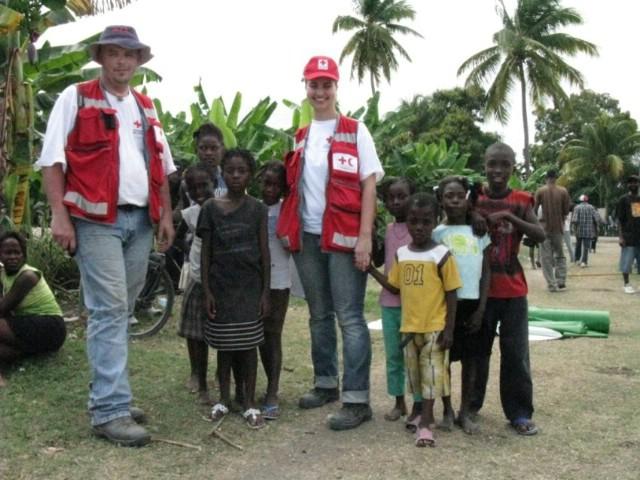 Doček volontera Sanje Faraguna i Aleksandra Kneževića povodom povratka sa Haitija