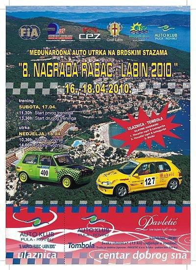 Rabac – Labin, prva brdska auto utrka ovogodišnje sezone  od 16. do 18. travnja - obavijest o zatvoranju prometnice