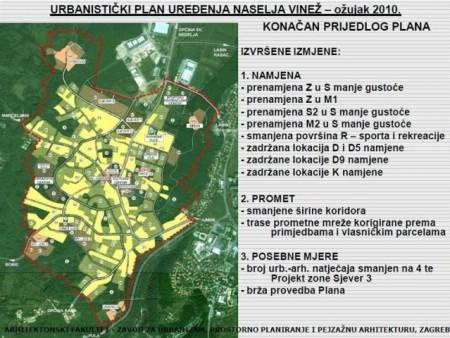 Urbanistički plan uređenja naselja Vinež osigurava kontinuitet u prostornom planiranju (Prezentacija)