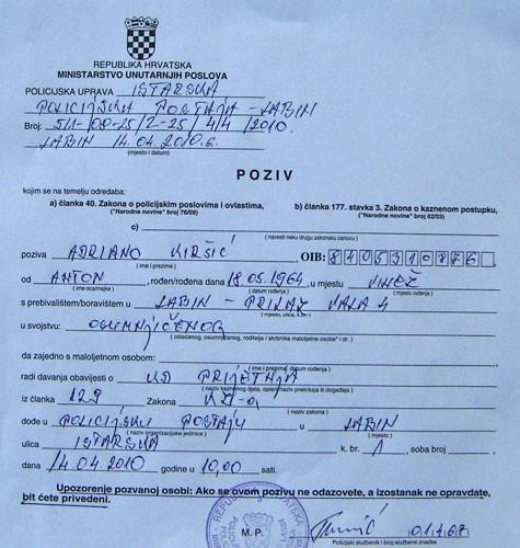 Labinski gradonačelnik podnio kaznenu prijavu protiv Adrijana Kiršića zbog kaznenog djela prijetnje