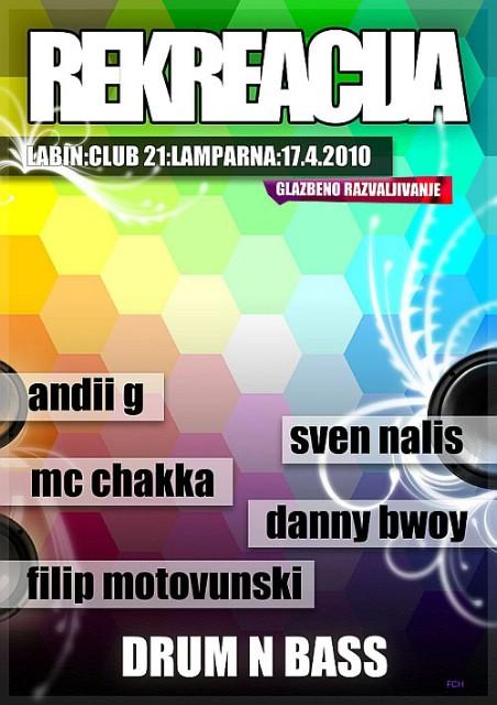 Club 21 Labin: Ovog vikenda Drum´n Bass Rekreacija + revija amaterskog fima
