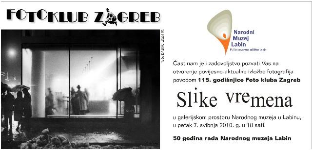 Narodni muzej Labin: izložba fotografija fotokluba Zagreb - slike vremena