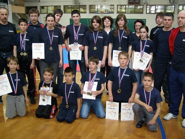 """Labinjanima čak 19 odličja na međunarodnom  kickboxing kupu """" Adria kup 2010."""""""