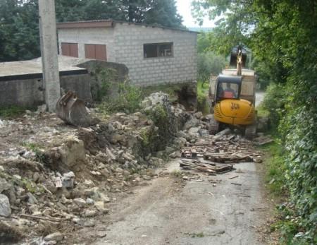 Sanacija potpornog zida na Škrilicama