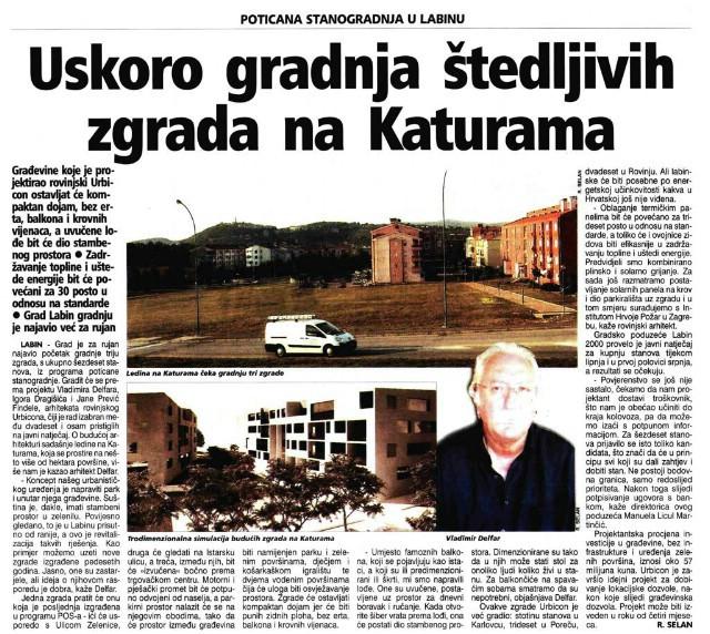 Labin: Izgradnja tzv.štedljivih zgrada na Katurama na čekanju - kvadrat po 1.300 eura?