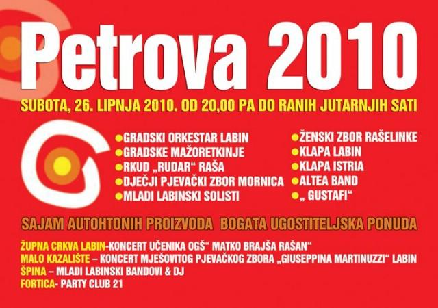 """Gustafi na fešti grada Labina """"Petrova 2010."""""""