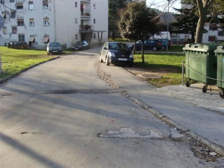 Obavijest o zatvaranju ceste u centru Labina