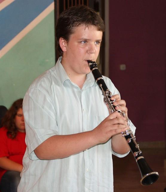Toni Kranjac izvedbom na klarinetu uveličao prijem za  prvake  državnih natjecanja u Vodnjanu