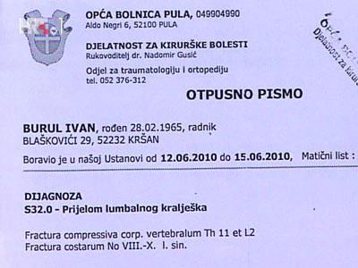 Kršan: Ivan Burul osim batina i loma kralješka dobio i otkaz, a poslodavac kaznenu prijavu (VIDEO)