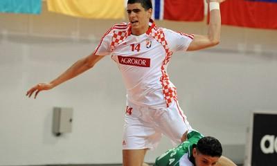 Luka Stepanić na pripremama za Europsko prvenstvo u rukometu