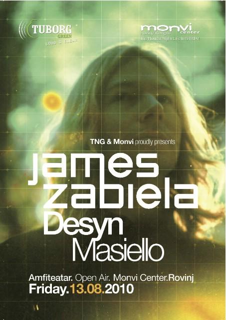 James Zabiela i Desyn Masiello u Amfiteatru Monvi Centra!