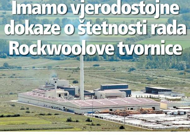 Imamo vjerodostojne dokaze o štetnosti rada Rockwoolove tvornice