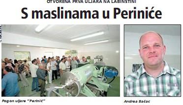Otvorena prva uljara na Labinštini: s maslinama u Periniće