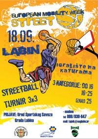 Streetball turnir subotu u Labinu