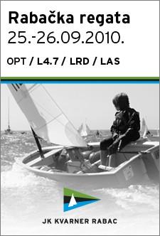 Rabačka regata u klasi `Optimist` i `Laser`  25.- 26.09.2010