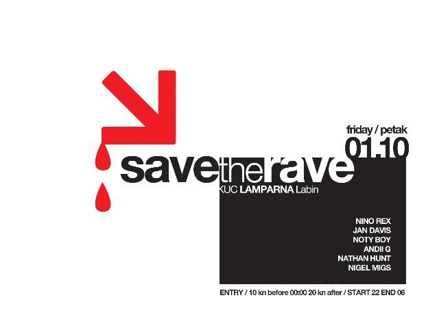 NAGRADNA IGRA: SAVE THE RAVE @ KUC LAMPARNA, LABIN 01.10.2010. - REZULTATI