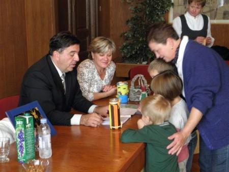 """Mališani Dječjeg vrtića """"Pjerina Verbanac"""" na prijemu kod gradonačelnika"""