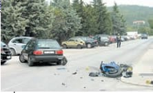 Labin: Vozač auta oduzeo prednost motociklistu